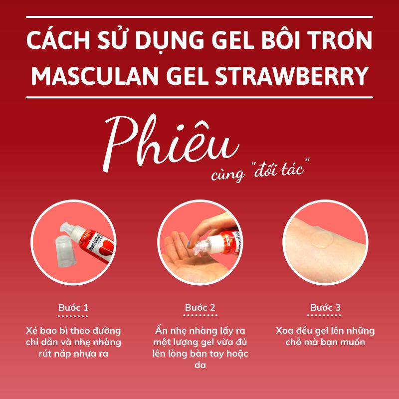 Hướng dẫn sử dụng Gel bôi trơn cao cấp Masculan Strawberry gốc nước