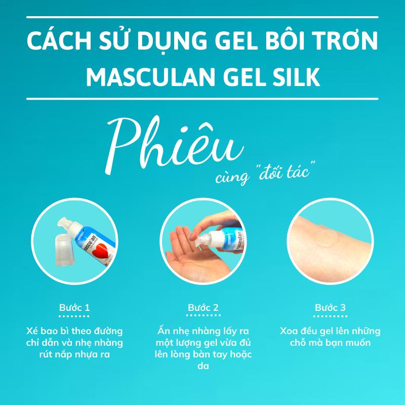 Hướng dẫn sử dụng Gel bôi trơn cao cấp Masculan Silk gốc nước