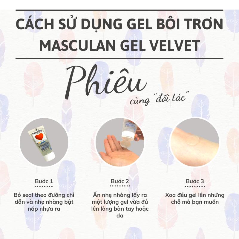 Hướng dẫn sử dụng gel bôi trơn cao cấp Masculan Velvet gốc nước