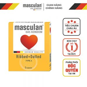 Masculan Ribbed+Dotted
