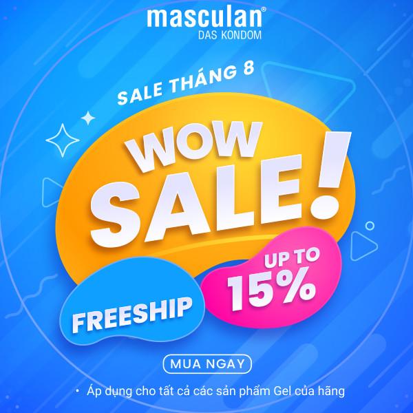 [Free ship][Giảm giá 15%] Tất cả sản phẩm Gel bôi trơn Masculan gốc nước tháng 8